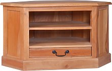 vidaXL Corner TV Cabinet Solid Mahogany Wood