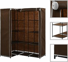 vidaXL Corner Wardrobe 130x87x169 cm Brown - Brown