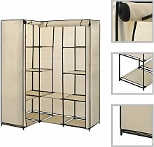 vidaXL Corner Wardrobe 130x87x169 cm Cream - Cream