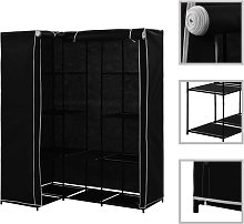 vidaXL Corner Wardrobe Black 130x87x169 cm