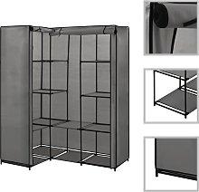 vidaXL Corner Wardrobe Grey 130x87x169 cm