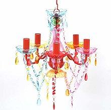 vidaXL Crystal Light 5 Sockets Multicolour
