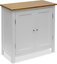 vidaXL Cupboard 70x35x75 cm Solid Oak Wood