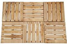 vidaXL Decking Tiles 6 pcs 50x50 cm Wood Brown -