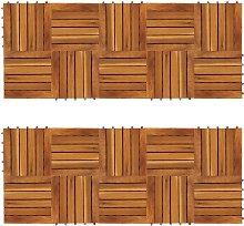 vidaXL Decking Tiles Vertical Pattern 30 x 30 cm