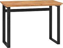 vidaXL Desk 100x45x75 cm Solid Teak Wood