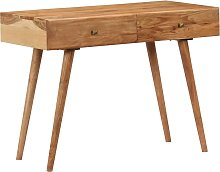 vidaXL Desk 100x51x76 cm Solid Acacia Wood