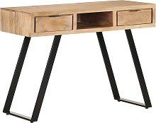 vidaXL Desk 110x50x75 cm Solid Acacia Wood with