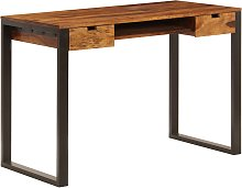 vidaXL Desk 110x55x78 cm Solid Sheesham Wood and