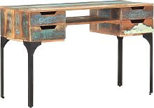 vidaXL Desk 118x48x75 cm Solid Reclaimed Wood