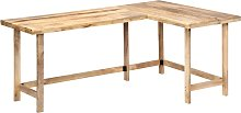 vidaXL Desk 180x120x76 cm Solid Mango Wood