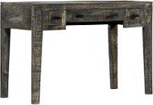 Vidaxl - Desk Black 110x50x75 cm Solid Mango Wood