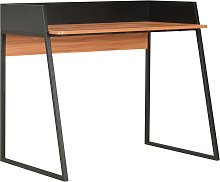 vidaXL Desk Black and Brown 90x60x88 cm