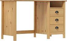 vidaXL Desk Hill Range with 3 Drawers 120x50x74 cm
