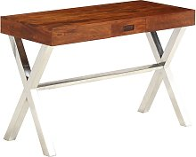 vidaXL Desk Solid Acacia Wood Sheesham Finish