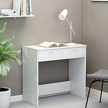 vidaXL Desk White 80x40x75 cm Chipboard
