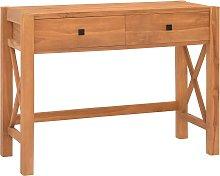 vidaXL Desk with 2 Drawers 100x40x75 cm Recycled