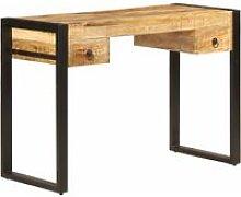 Vidaxl - Desk with 2 Drawers 110x50x77 cm Solid