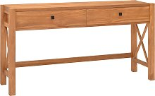 vidaXL Desk with 2 Drawers 140x40x75 cm Recycled