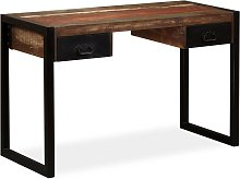 vidaXL Desk with 2 Drawers Solid Reclaimed Wood