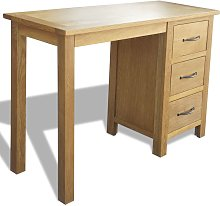 vidaXL Desk with 3 Drawers 106x40x75 cm Solid Oak