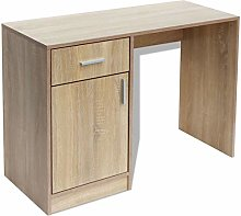 vidaXL Desk with Drawer and Cabinet Home Office