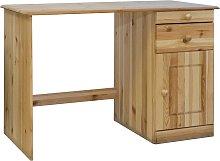 vidaXL Desk with Drawers 110x50x74 cm Solid Pine