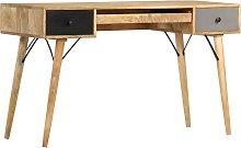 vidaXL Desk with Drawers 130x50x80 cm Solid Mango