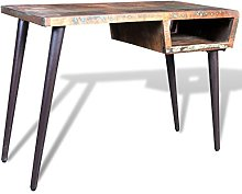 vidaXL Desk with Iron Legs Reclaimed Wood