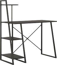 vidaXL Desk with Shelving Unit Black 102x50x117 cm