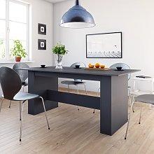 vidaXL Dining Table Grey 180x90x76 cm Chipboard