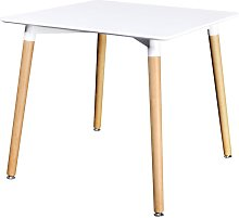 vidaXL Dining Table MDF Square White