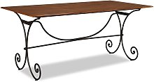 vidaXL Dining Table Solid Wood with Sheesham