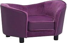 vidaXL Dog Sofa Burgundy 69x49x40 cm Plush and