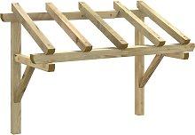 vidaXL Door Canopy 150x100x160 cm Solid Pinewood