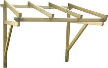 vidaXL Door Canopy 150x150x160 cm Solid Pinewood