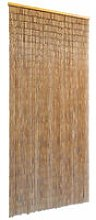 vidaXL Door Curtain Bamboo 90x200 cm - Brown