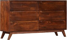 vidaXL Drawer Cabinet Brown 140x40x80 cm Solid