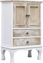 vidaXL Drawer Cabinet White 50x30x80 cm Wood