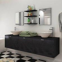 vidaXL Eight Piece Bathroom Furniture and Basin