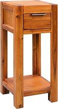 vidaXL End Table Solid Acacia Wood 30x30x70 cm