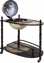 vidaXL Eucalyptus Wood Furniture Bar Stand Ball of