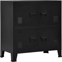 vidaXL Filing Cabinet with 4 Doors Industrial