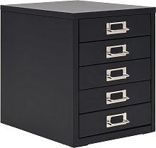 vidaXL Filing Cabinet with 5 Drawers Metal