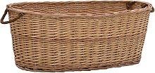 vidaXL Firewood Basket with Carrying Handles