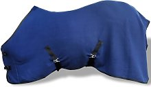 Vidaxl - Fleece Rug with Surcingles Blue 105 cm -