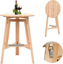vidaXL Foldable Bar Table 78 cm Fir Wood