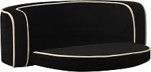 vidaXL Foldable Dog Sofa Black 73x67x26 cm Plush
