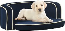 vidaXL Foldable Dog Sofa Blue 73x67x26 cm Plush