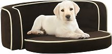 vidaXL Foldable Dog Sofa Brown 73x67x26 cm Plush